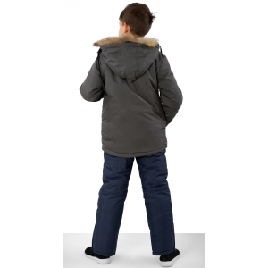 Костюм зимний на мальчика цвет серый