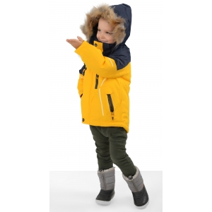 Куртка зимняя на мальчика цвет  желтый