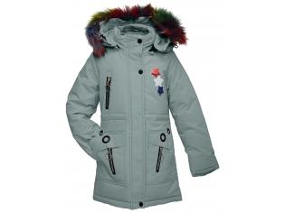 Куртка девочка №88-5 оливковая