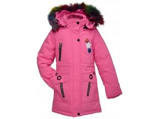 Куртка девочка №88-5 розовая