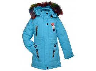 Куртка девочка №88-5 бирюзовая