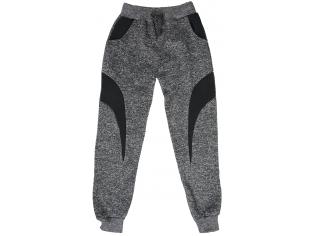 Штаны спортивные (вставки) темно-серые