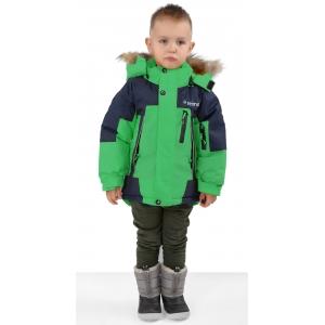 Куртка зимняя на мальчика цвет зеленый