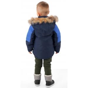 Куртка зимняя на мальчика цвет синий