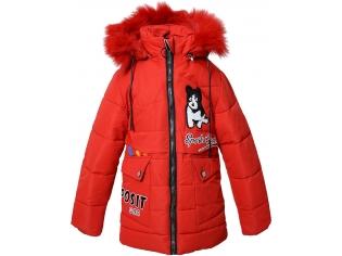 Куртка девочка №F-68 красная