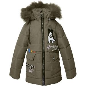 Куртка девочка №F-68 хаки
