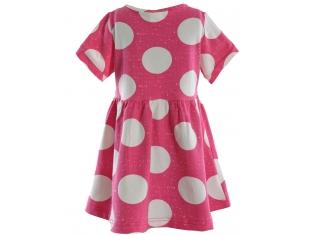 Платье для девочек  розовый горох