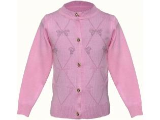 Кофта для девочки с бабочками розовая