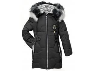 Куртка девочка №66-429 черная
