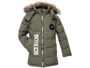 Куртка мальчик №7-612 зеленая