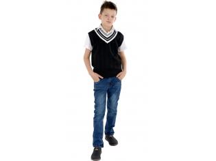 Жилетка мальчик №2814 черная
