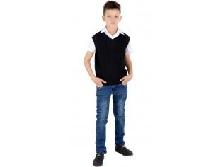 Жилетка мальчик №1884 черная