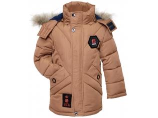 Куртка мальчик №7-619 бежевая