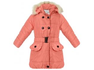 Куртка на девочку кораловая