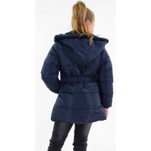 Куртка на девочку цветок строчки синяя