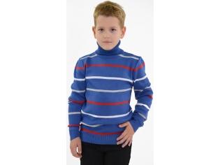 Свитер в полоску на мальчика синий