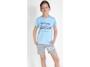 Футболка на мальчика голубая