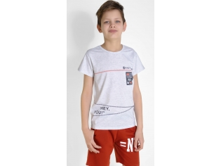 Футболка на мальчика цвет серый