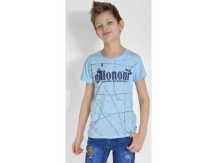 Футболка на мальчика цвет голубой