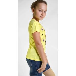 Футболка на девочек желтая