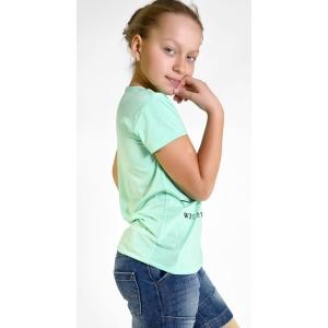 Футболка на девочек цвет мятный