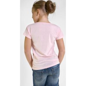 Футболка на девочек цвет розовый