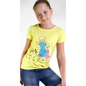 Футболка на девочек цвет желтый
