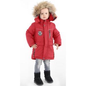 Куртка зимняя на мальчика  красная