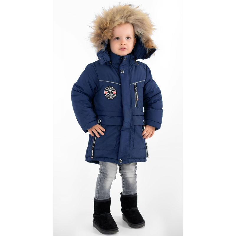 Куртка зимняя на мальчика  синяя