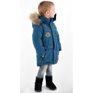Куртка зимняя на мальчика цвет светло-синий