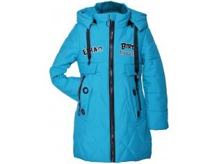 Куртка девочка №811 голубая