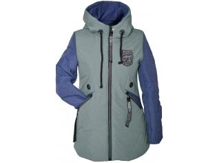 Куртка девочка №66-398 оливковая