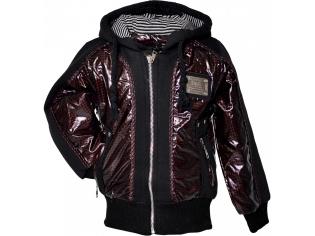 Куртка мальчик №9305 бордовая