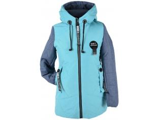 Куртка девочка №66-390 бирюзовая