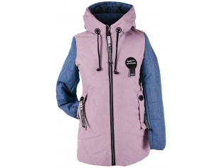 Куртка девочка №66-390 сиреневая
