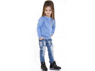 Кофта девочка №0812212 голубая