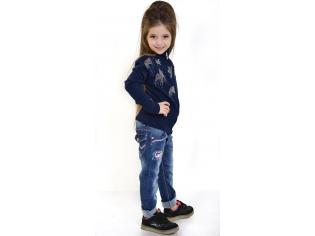Кофта девочка №812158 синяя