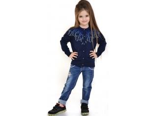 Кофта девочка №0812212 синяя