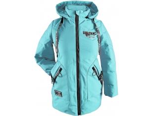 Куртка девочка №816 голубая