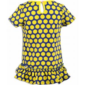 Платье девочка №9011 желтое в горох