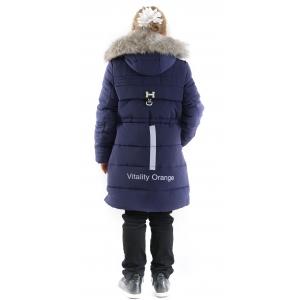 Куртка девочка №66-344 синяя
