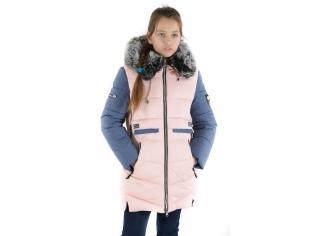 Куртка девочка №66-351 пудра