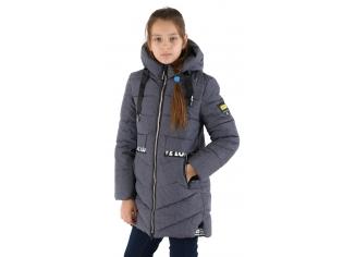 Куртка девочка №66-336 серая