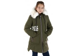 Куртка девочка №66-361 хаки