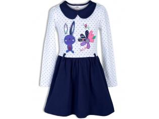 Платье девочка №6621 сине-белое