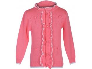 Кофта девочка 4 бабочки розовая