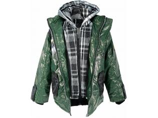 Куртка мальчик №1018 зеленая