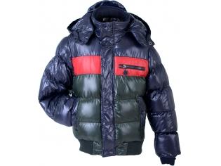 Куртка мальчик №13030 зелено-красно-синяя