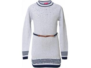 Платье вязаное девочка №0812216 серое