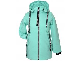 Куртка девочка №88-3 ментоловая